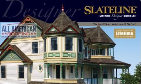 Slateline Designer Asphalt roof shingles