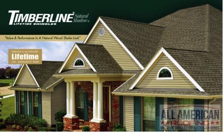 Timberline asphalt roof shingles
